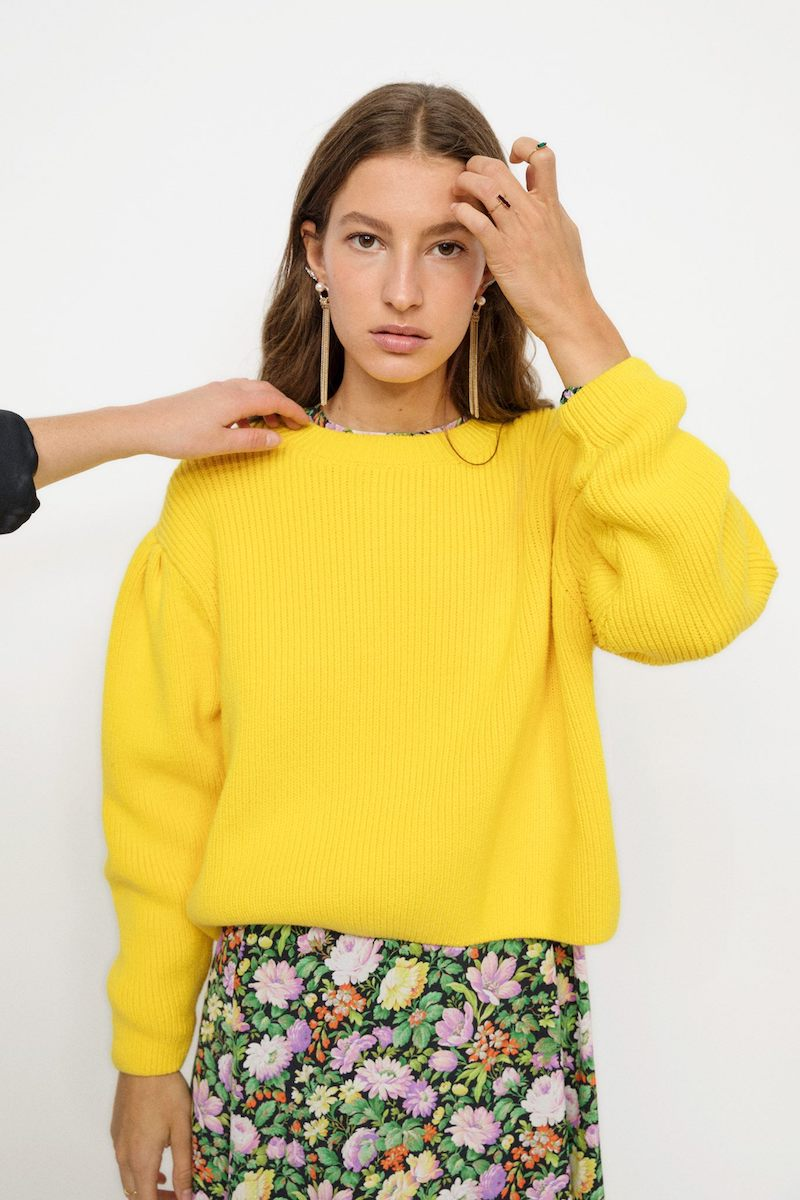 & Other Stories Knitted Puff Sweater