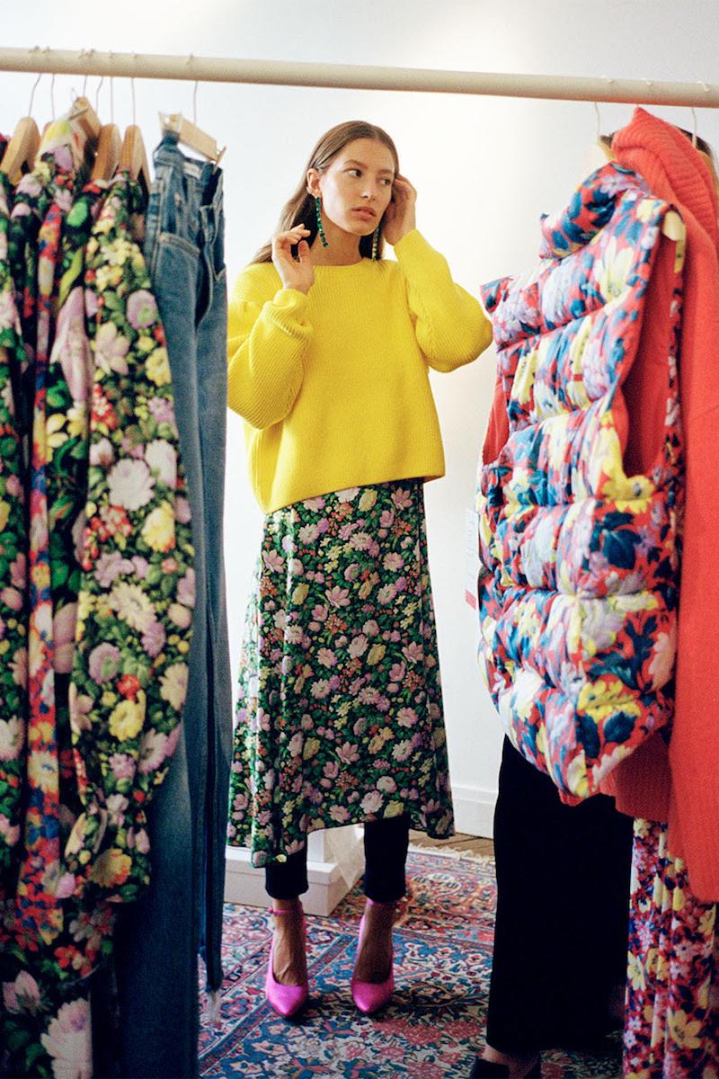 & Other Stories Shoulder Frills Midi Dress