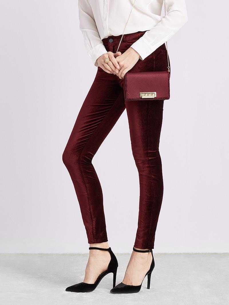 PAIGE Hoxton Velvet Skinny Jeans