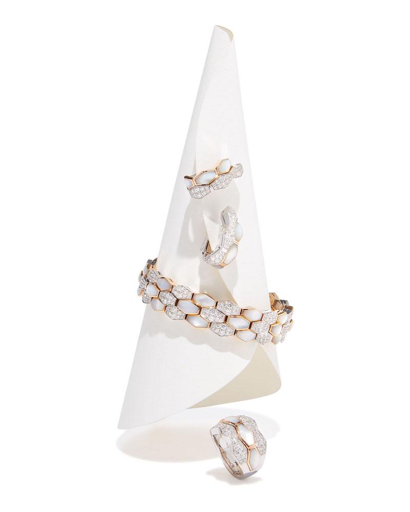 Picchiotti Hexagonal Mother-of-Pearl & Diamond Bracelet in 18K Rose Gold