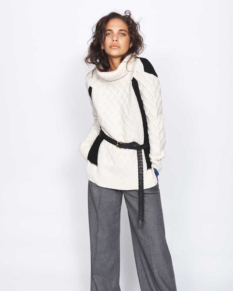 Preen Line Ellise Cable-Knit Wool-Blend Sweater