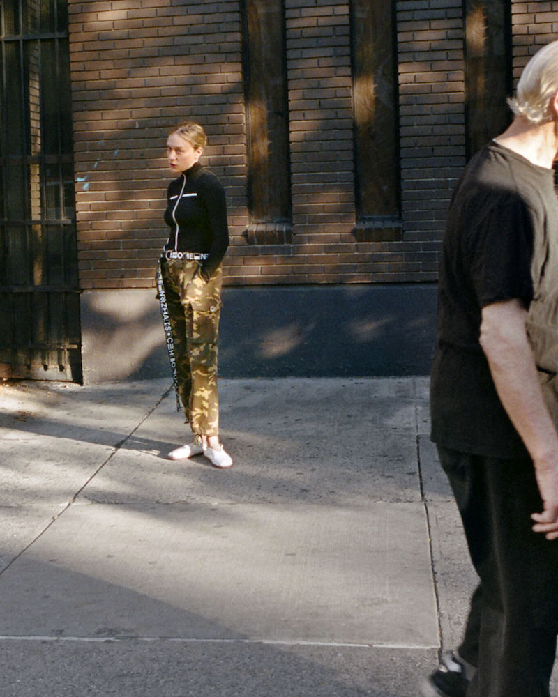 Proenza Schouler PSWL Camouflage Stretch Cotton Pants