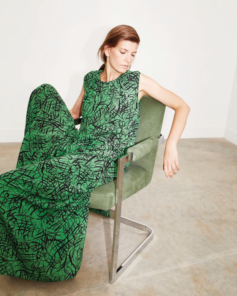 Raey Squiggle-Print Silk Maxi Dress