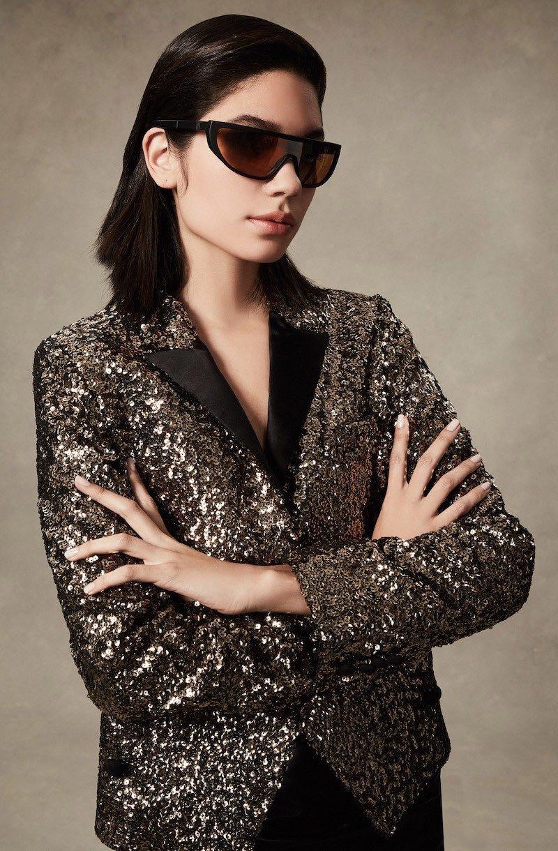 Redemption Spencer Gold Sequin Jacket