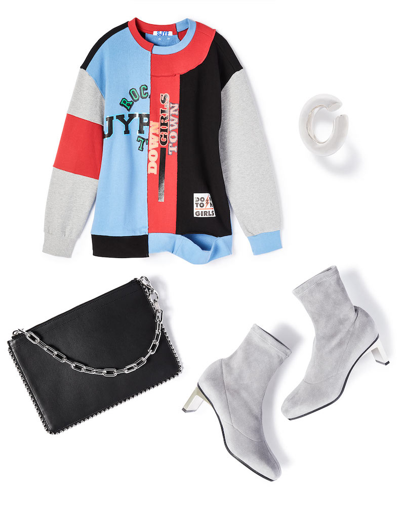 SJYP Multi Patched Sweatshirt