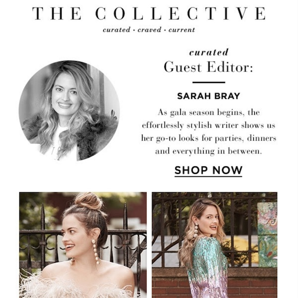 SAKS THE COLLECTIVE // Sarah Bray RSVPs Yes to Sequins And Winter-White Boots