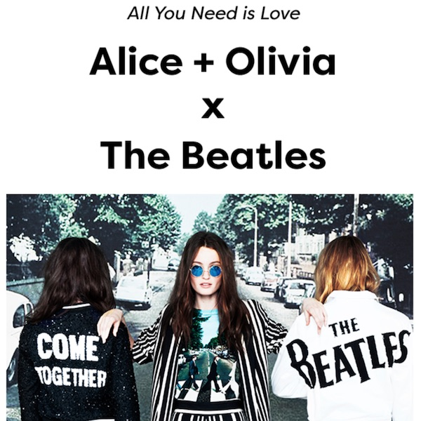 Alice + Olivia x The Beatles Capsule Collection at Saks Fifth Avenue