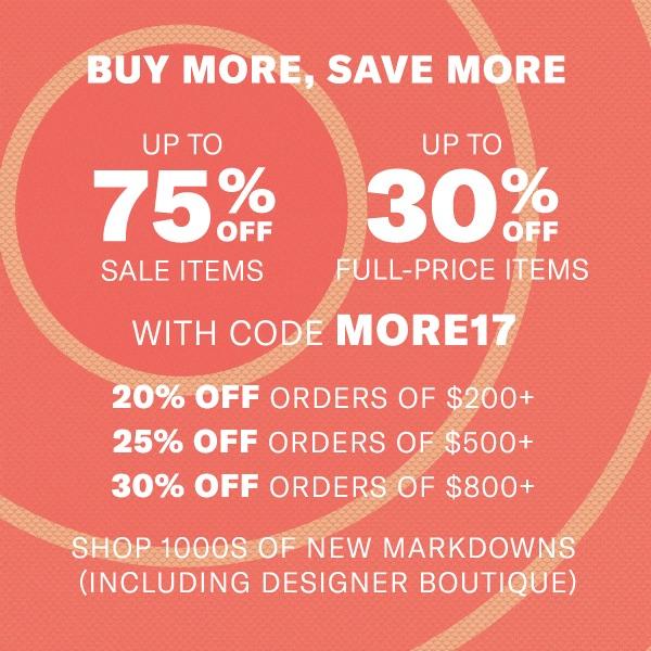 Shopbop Buy More Save More Sale