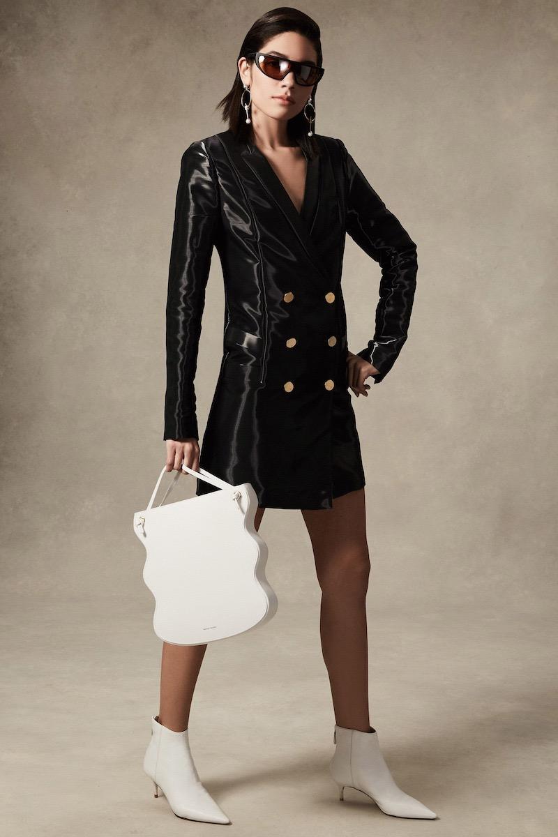 Stephanie Rad Tuxedo Button Up Dress