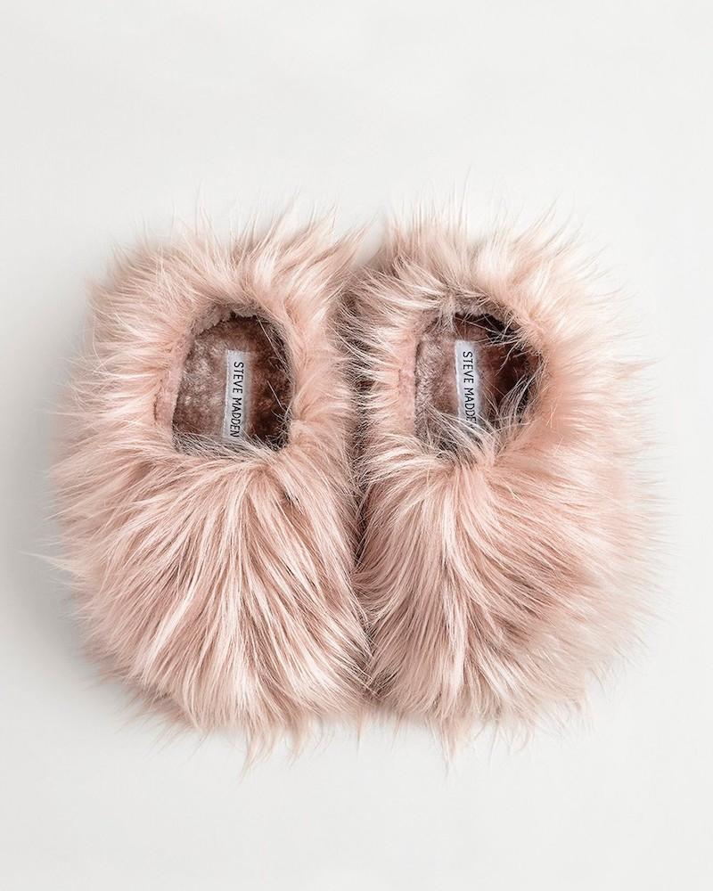 Steve Madden Fuzzy Faux Fur Slipper