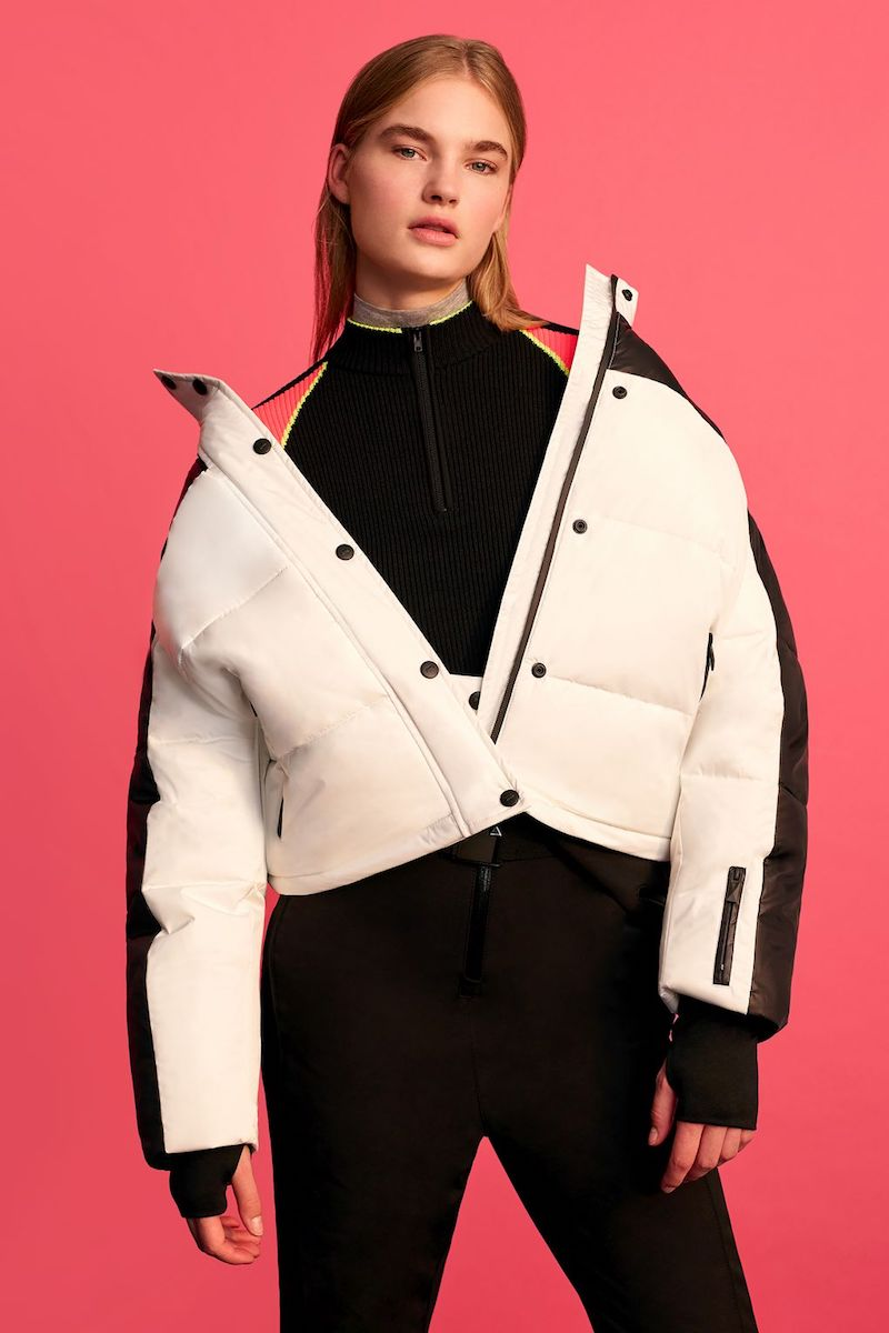 Topshop Monochrome Ski Puffer Jacket