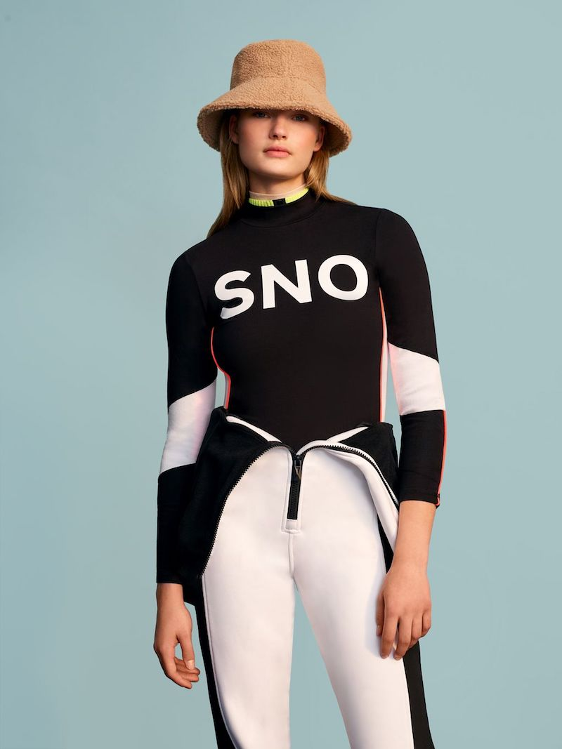 Topshop SNO Logo Thermal Long Sleeve Top
