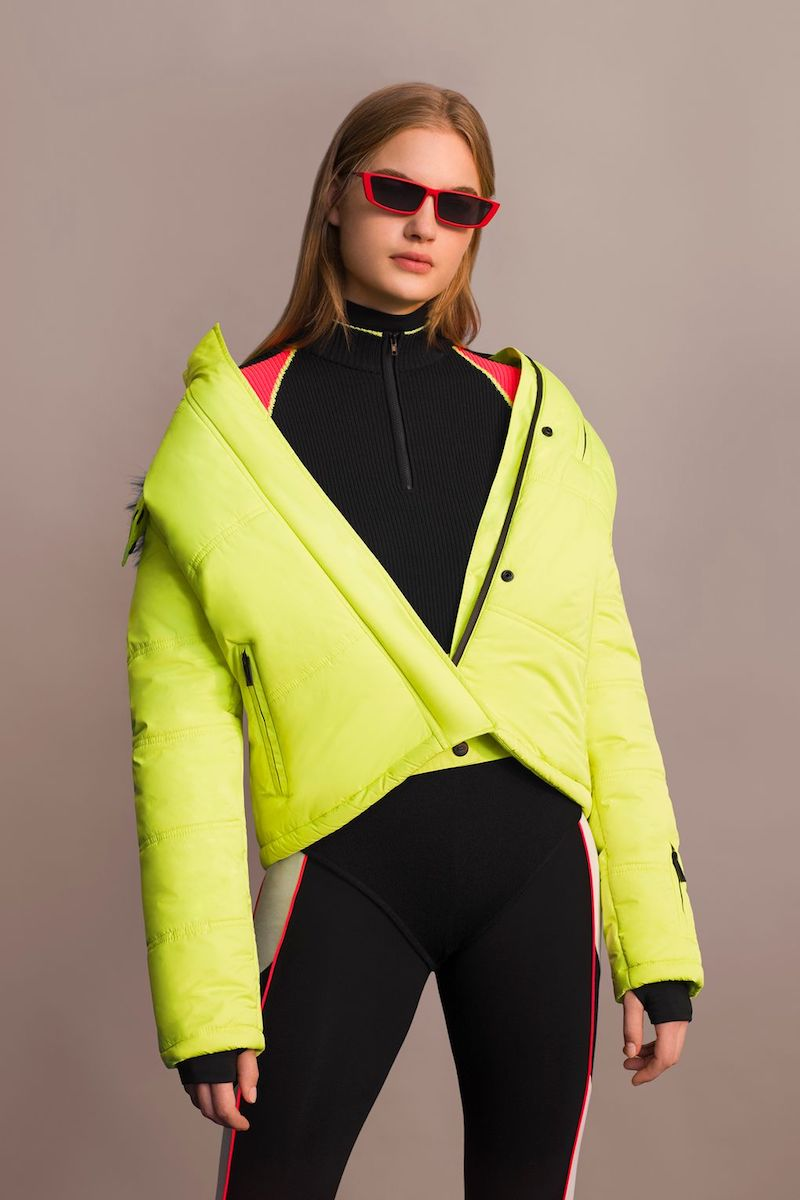 Topshop Yellow Ski Puffer Jacket