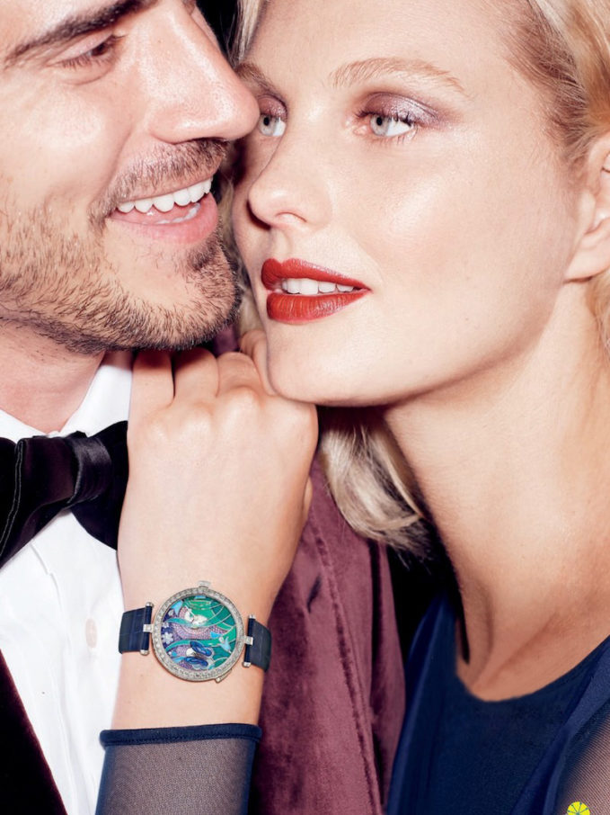 Van Cleef & Arpels Diamond and 18-karat White Gold Papillon Automate Timepiece