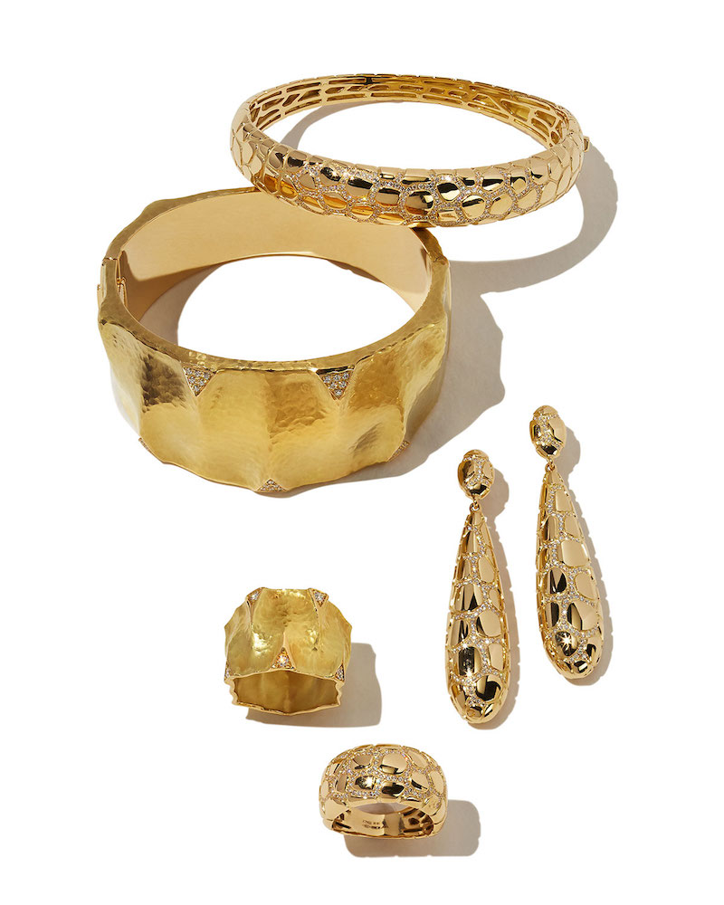 Vendorafa Dune 18k Gold and Diamond Cuff Bracelet