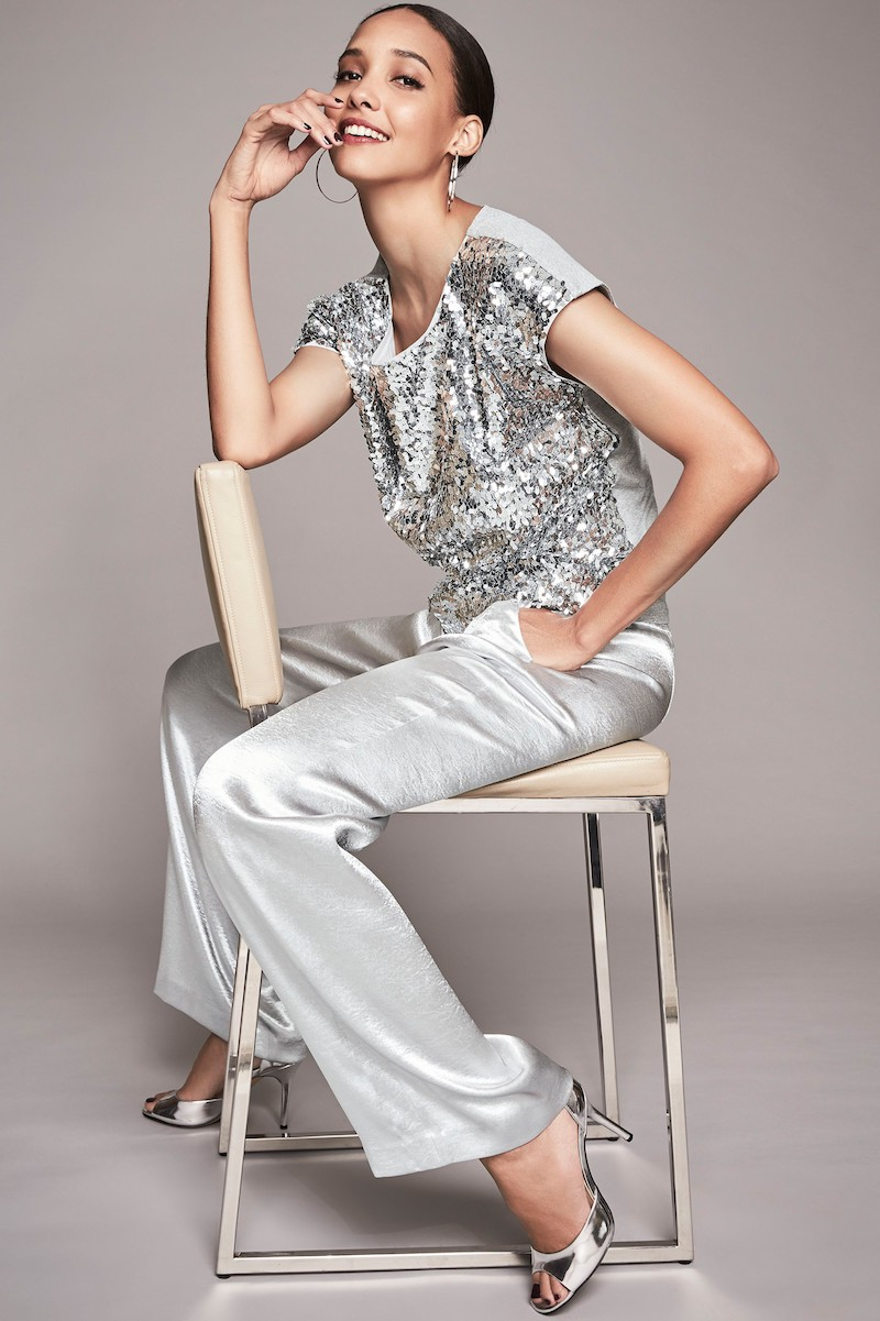 Vince Camuto Sequin Front Top