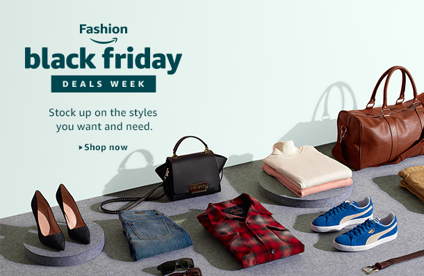 Black Friday Deals Week is on! Save on a vast selection of clothing, shoes, jewelry, watches, and more. Select styles and sizes. Prices as marked.