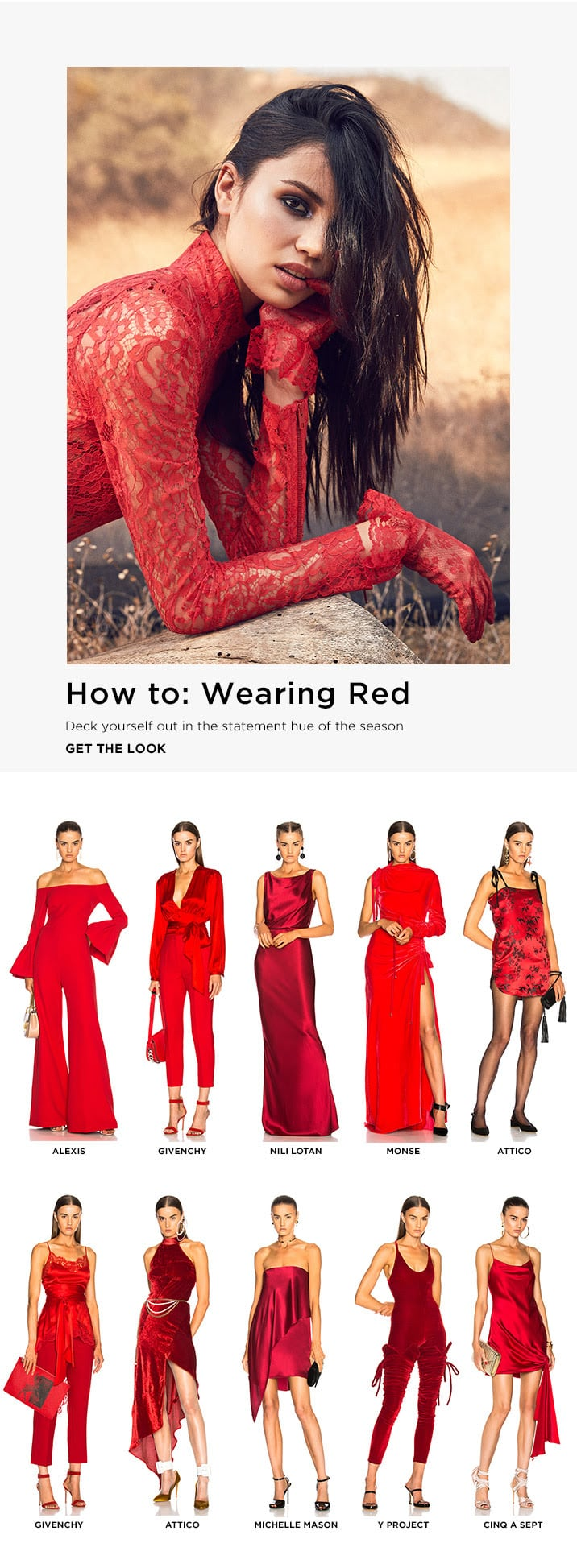 How to: Wearing Red - Get the Look