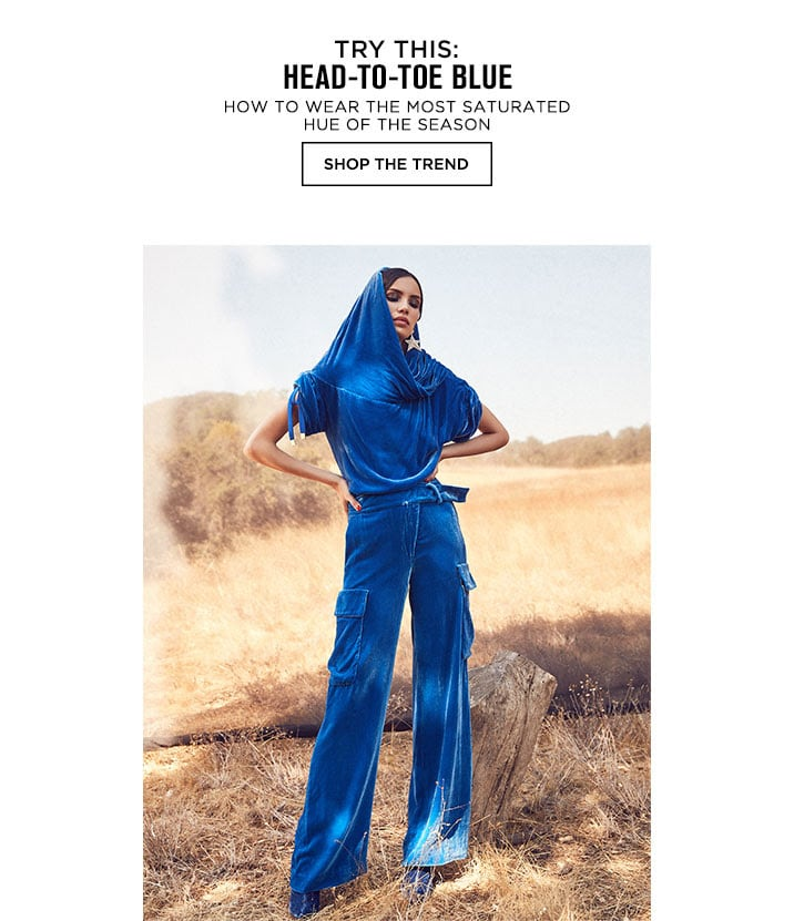 Try This: Head-to-toe Blue - Shop The Trend