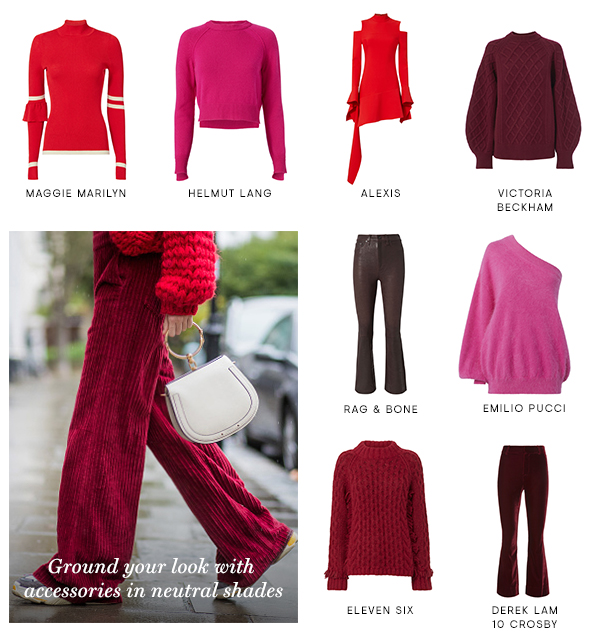 Forget what you've been told...style shades of red and pink together