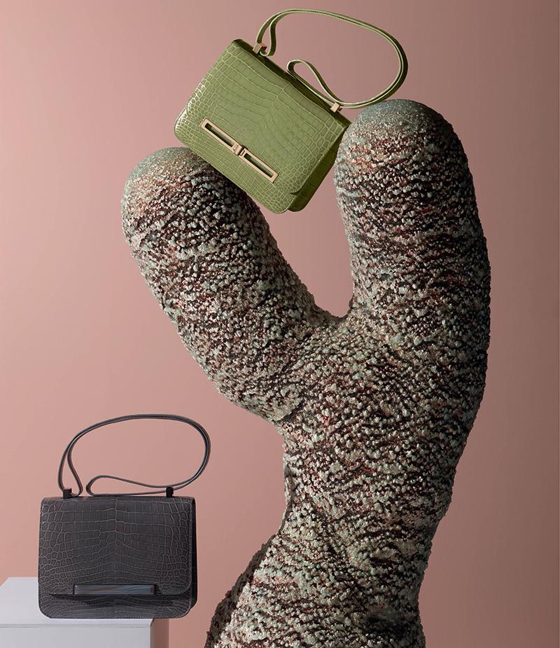 llora Teresa Crocodile Shoulder Bag