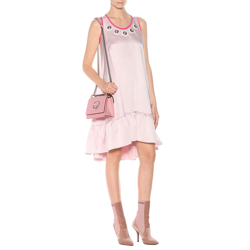 mytheresa.com x Fendi Embellished Satin Dress