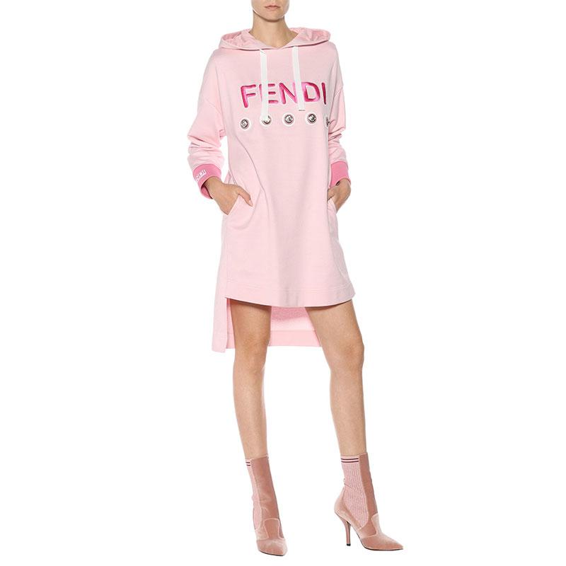 mytheresa.com x Fendi Embellished Sweatshirt Dress