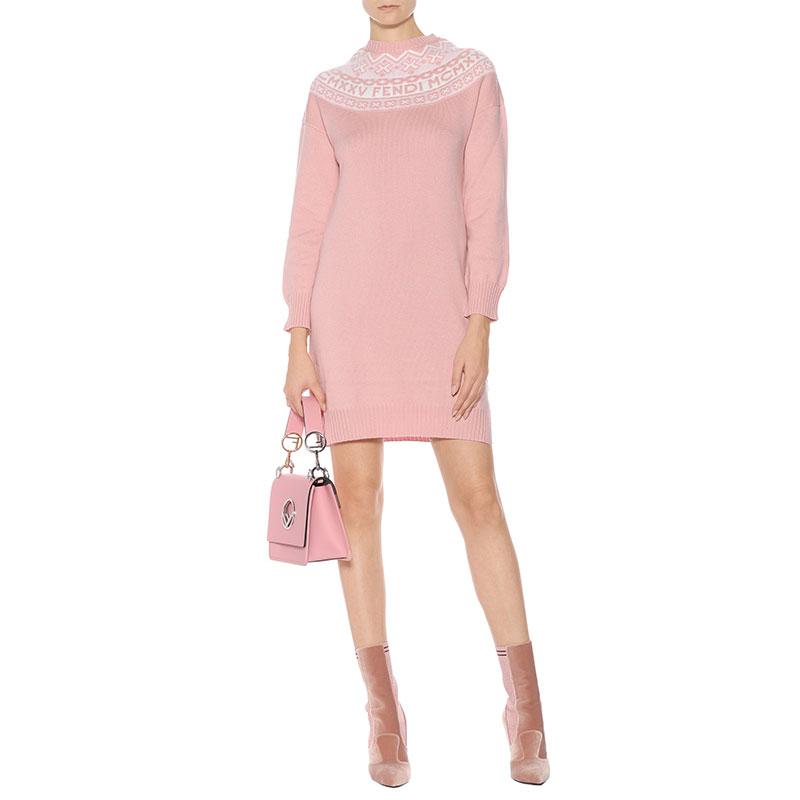 mytheresa.com x Fendi Fair Isle Sweater Dress