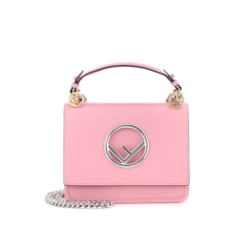 mytheresa.com x Fendi Kan I F Mini Leather Shoulder Bag
