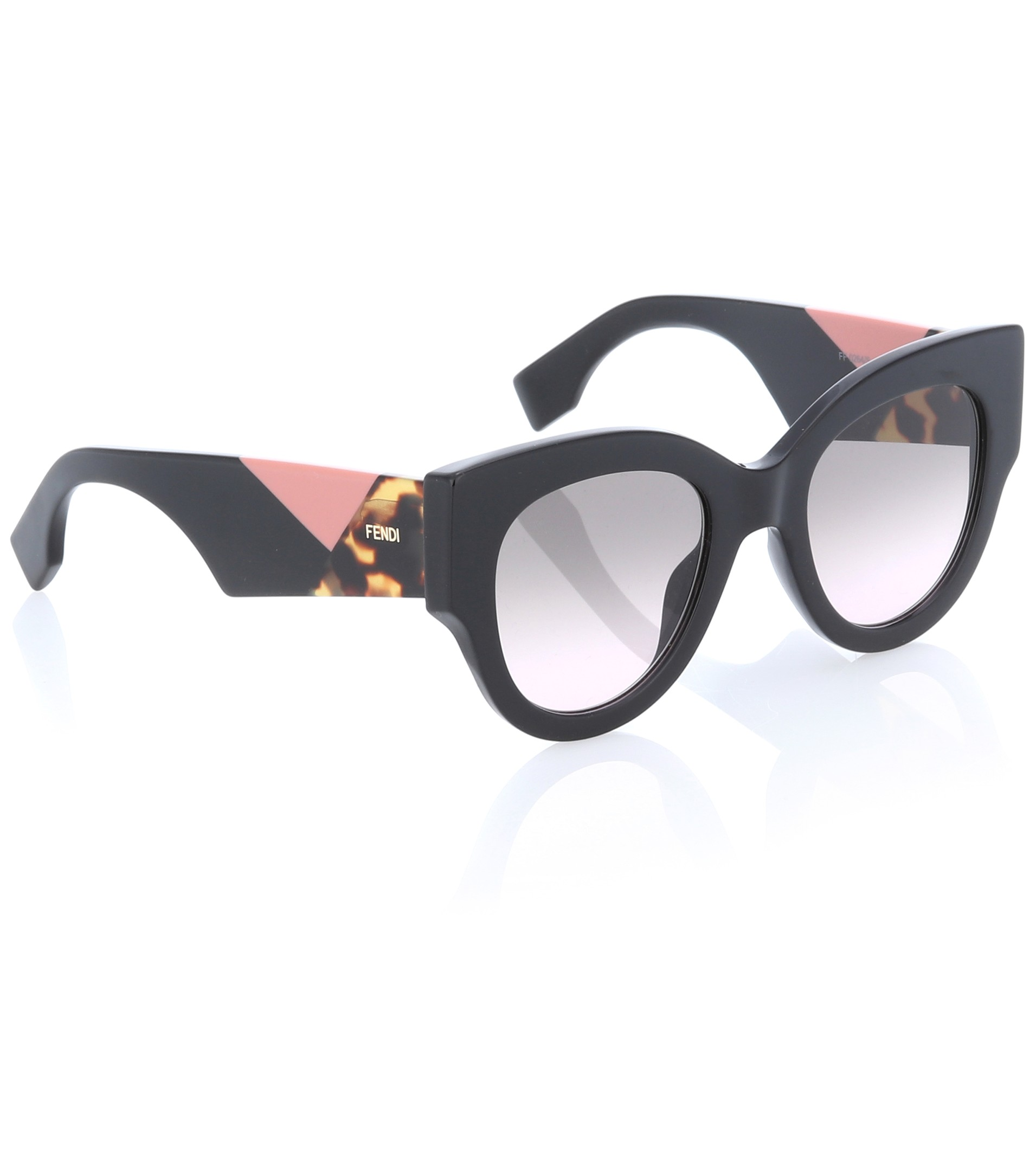 mytheresa.com x Fendi Oversized Round Geometric Sunglasses in Tortoiseshell
