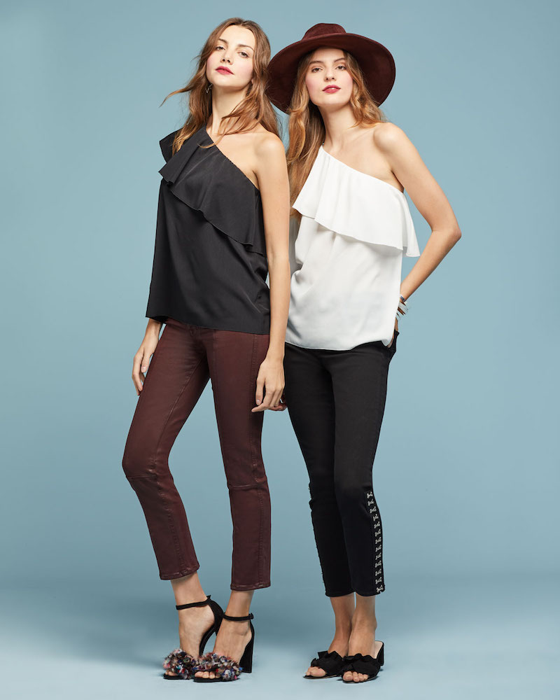 7 For All Mankind High-Waist Ankle Skinny-Leg Jeans with Hook-Eye Detail