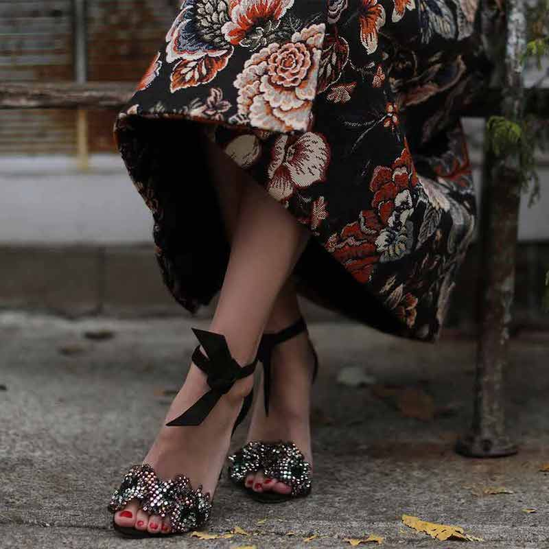 Alexandre Birman Clarita Crystal-Bow d'Orsay Sandal