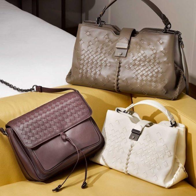 Bottega Veneta Napoli Large Intrecciato Leather Cross-Body Bag