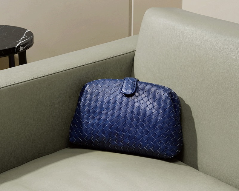 Bottega Veneta The Lauren 1980 Intrecciato-Leather Clutch