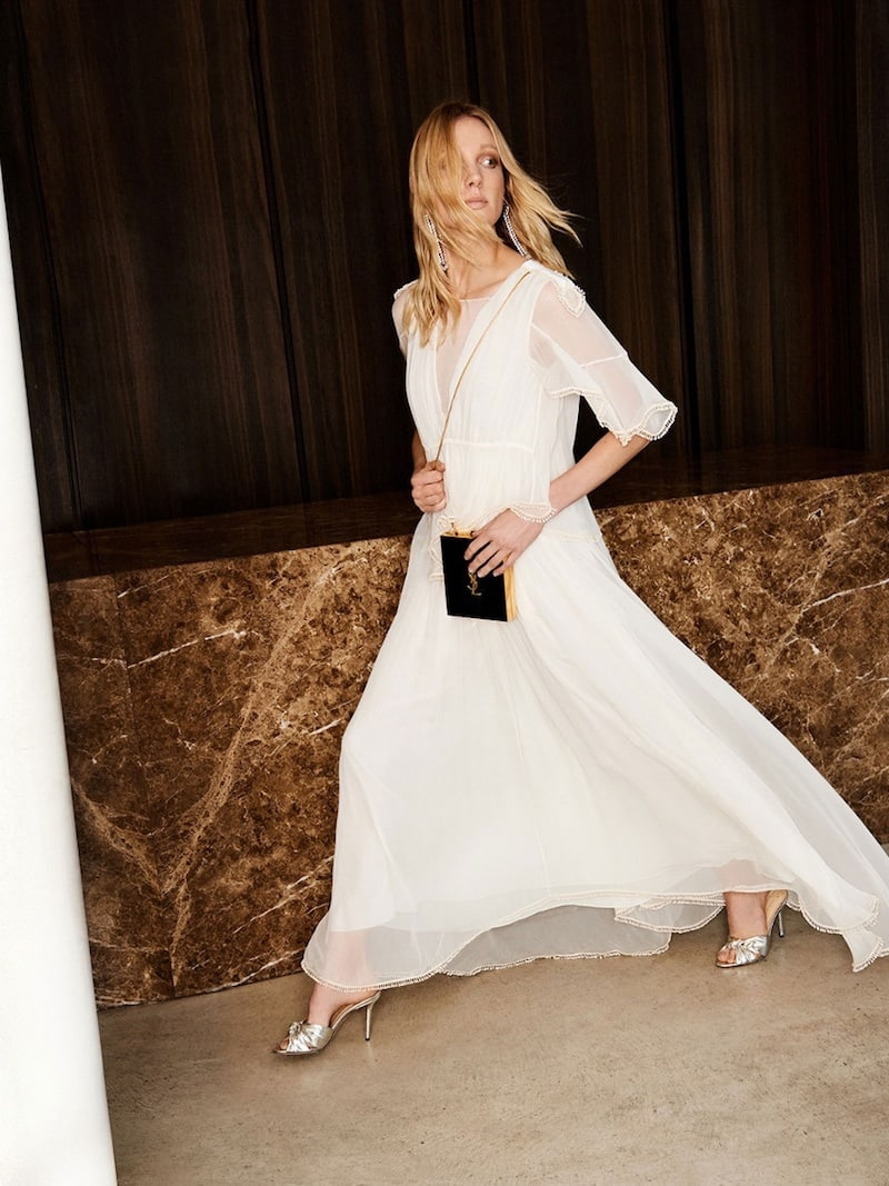 Chloé Layered Crepon Gown