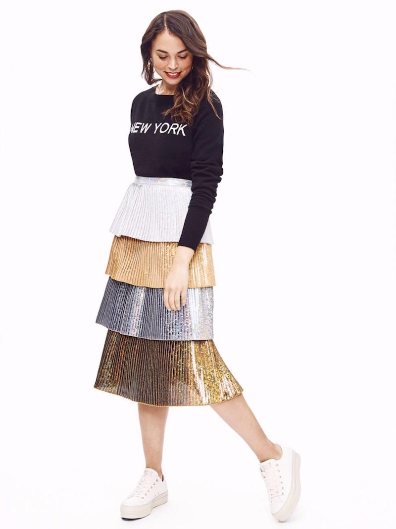 Delfi Collective Lauren Tiered Pleated Skirt