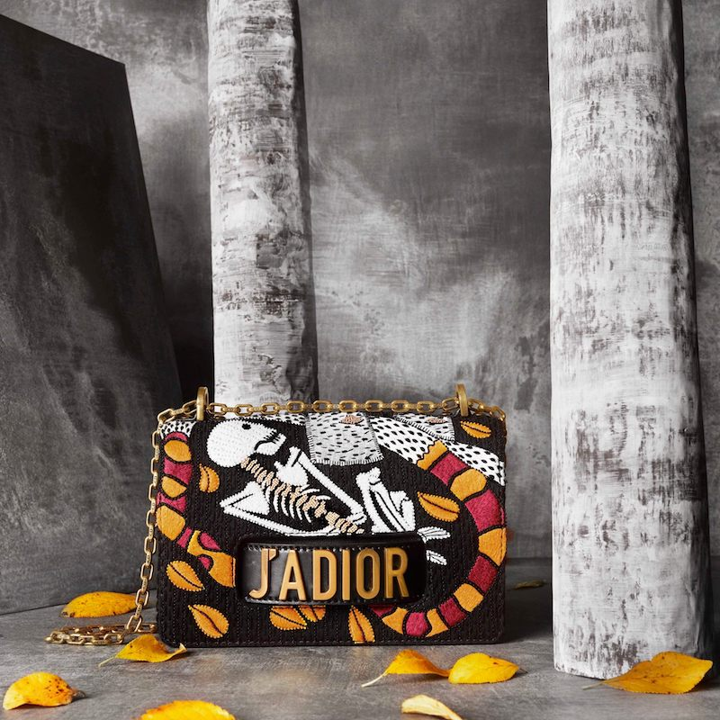 "Dior J'Adior ""Death"" Embroidered Motherpeace Tarot Handbag"
