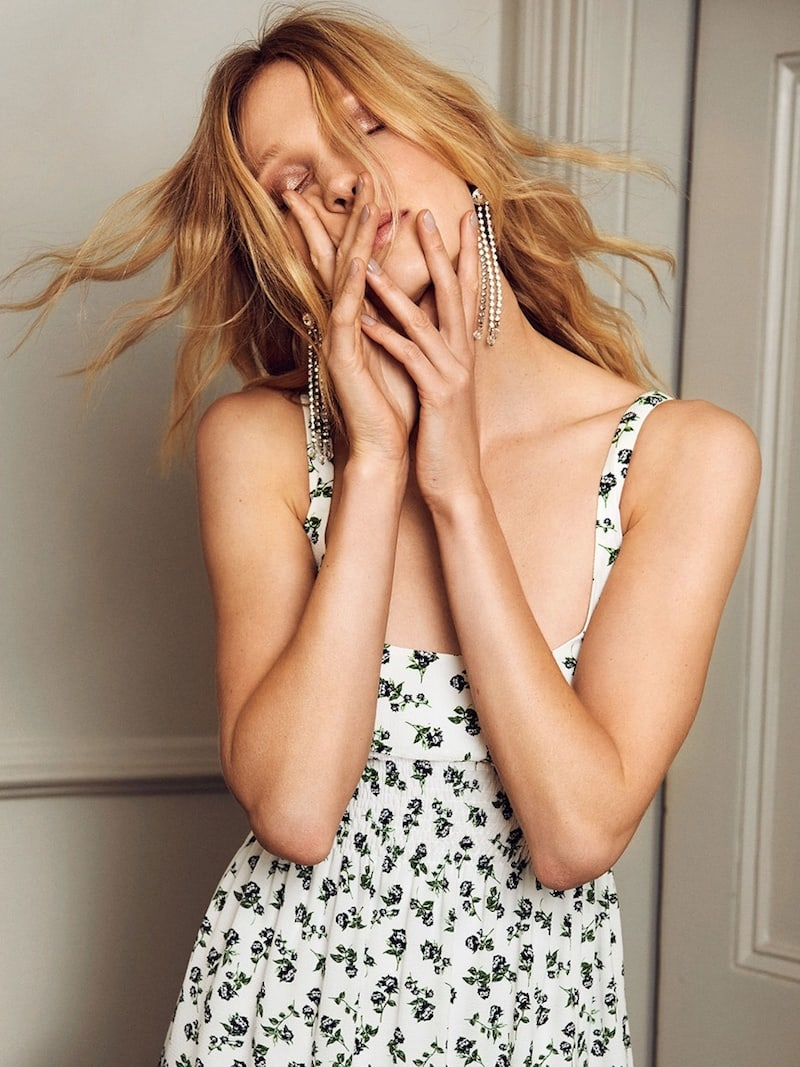 Emilia Wickstead Giovanna Rose-Print Georgette Midi Dress