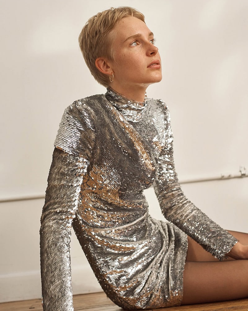 Helmut Lang Disco Sequined Minidress