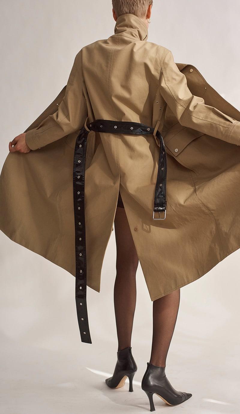 Helmut Lang Safety Pin-Detail Leather Minidress