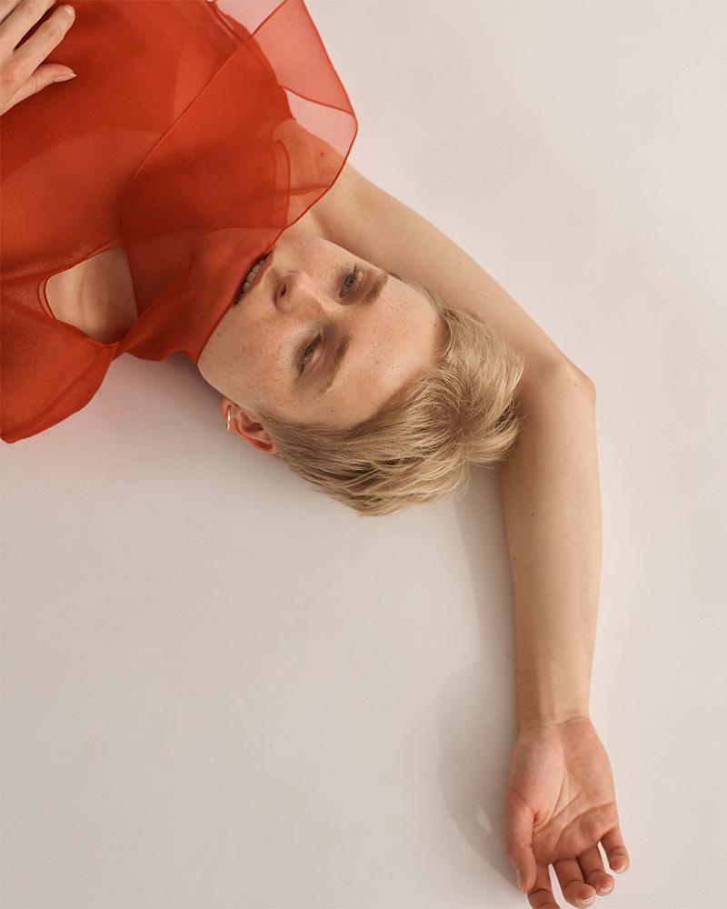 Helmut Lang Silk Organza Sleeveless Dress