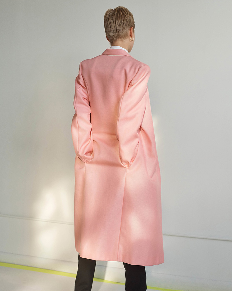 Helmut Lang Tech-Canvas Double-Breasted Coat