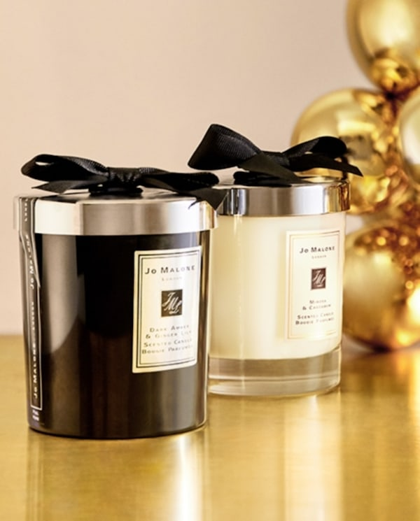 Jo Malone Dark Amber & Ginger Lily and Mimosa & Cardamom candles