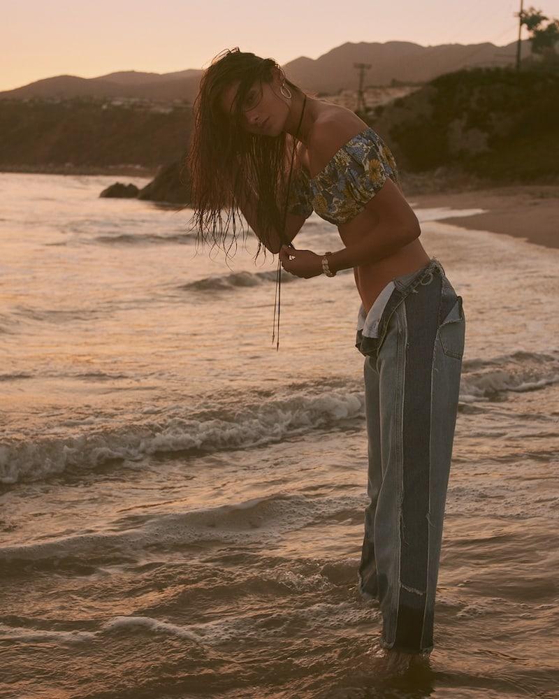 Lisa Marie Fernandez Leandra Off-The-Shoulder Bikini