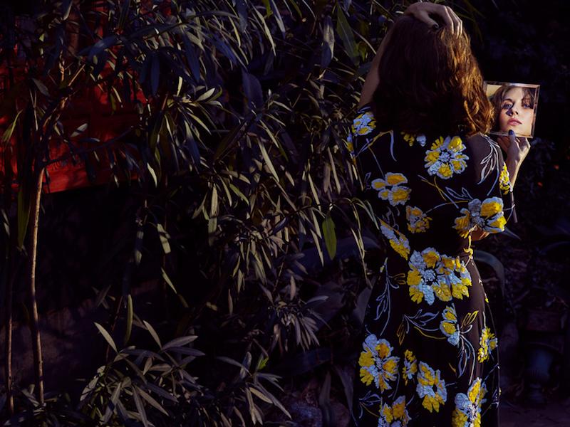 Michael Kors Collection Floral-Print Silk Crepe De Chine Midi Dress