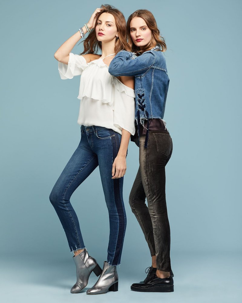 PAIGE Verdugo Ultra-Skinny Ankles Jeans with Side Stripe