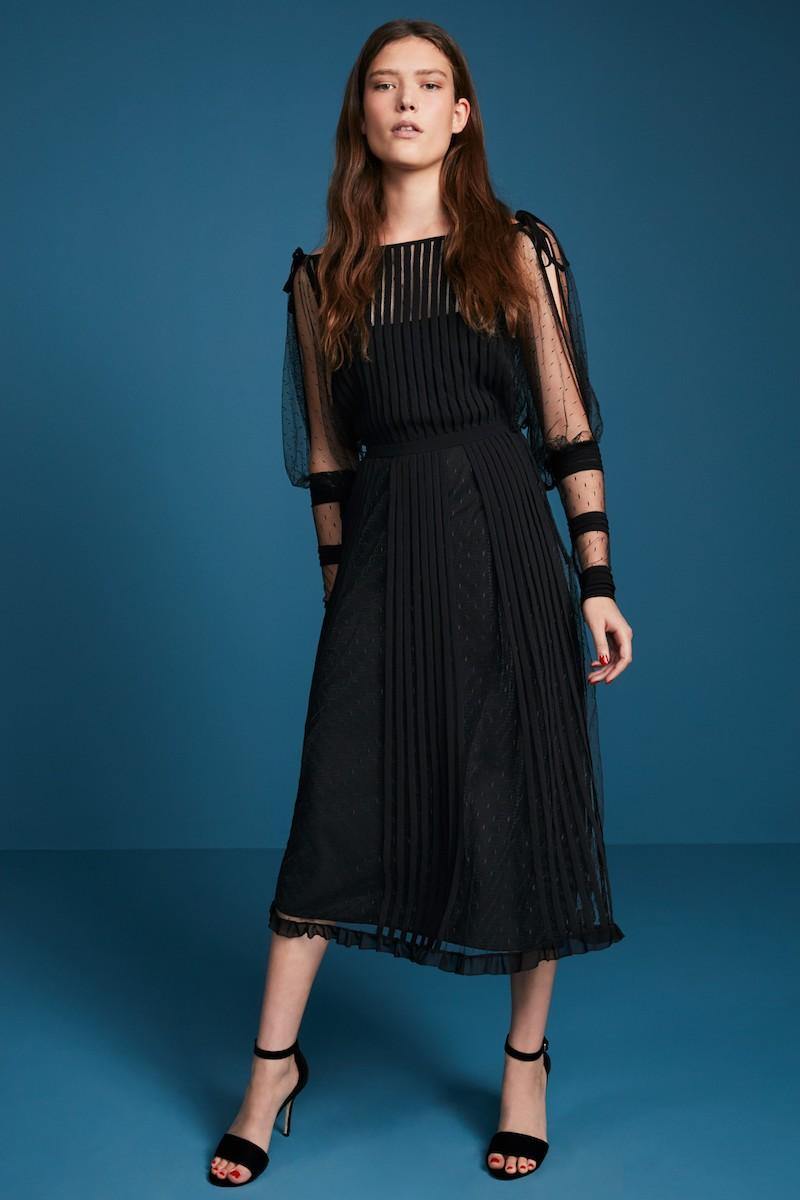RED Valentino Point dEsprit & Georgette Midi Dress