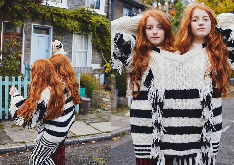 Sacai Striped Fringed Sweater
