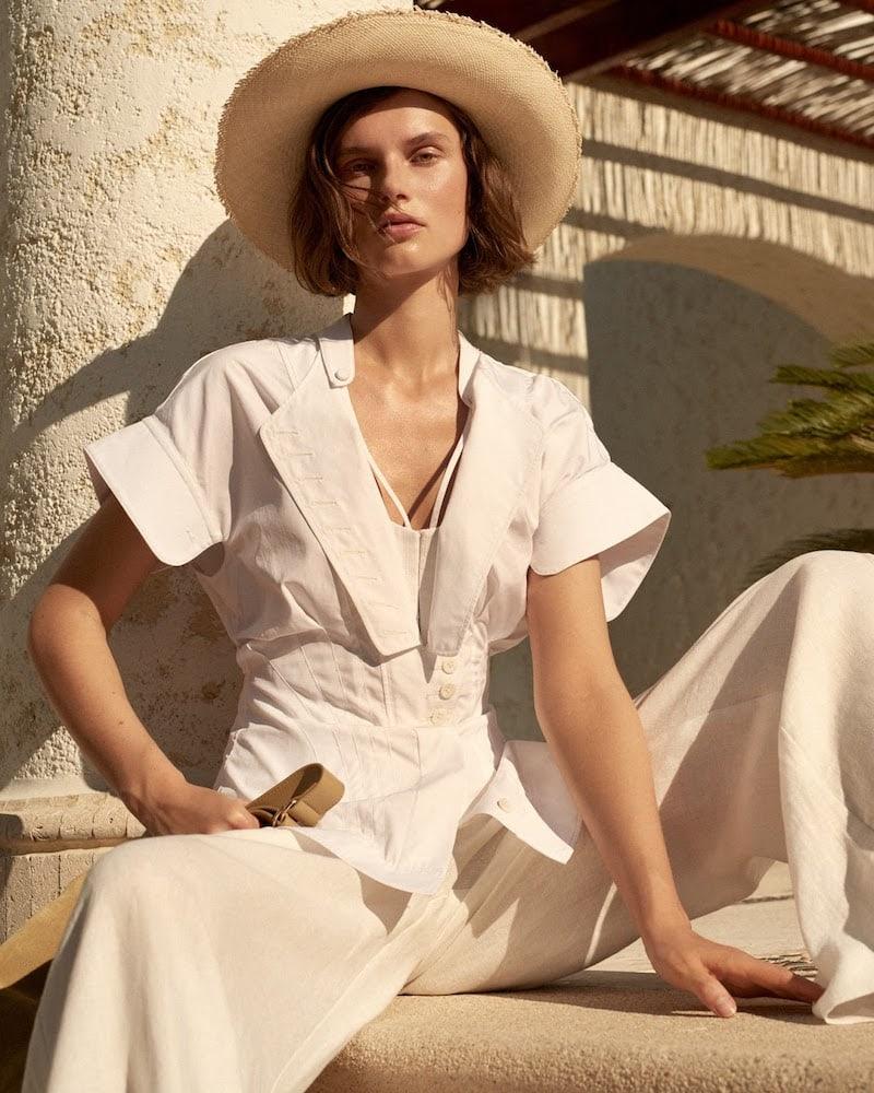 Sensi Studio Two-Tone Toquilla Straw Panama Hat