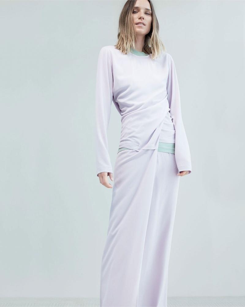 Sies Marjan Vicki Twisted-Detail Crepe Dress